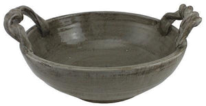 "11.5"" Hand Thrown Stoneware Bowl - Smokey Brown"