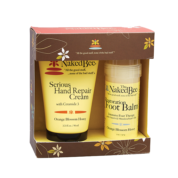 Naked Bee Orange Blossom Honey Hand & Foot Repair Kit