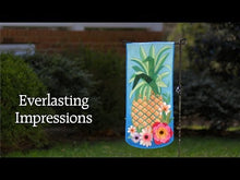Load and play video in Gallery viewer, Home Sweet Home Succulents Everlasting Impressions Flag