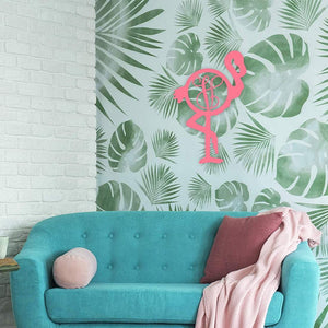 Flamingo Wood Monogram