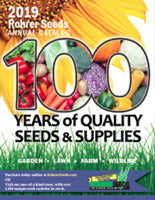 seed catalog cover for 2019 centennial edition