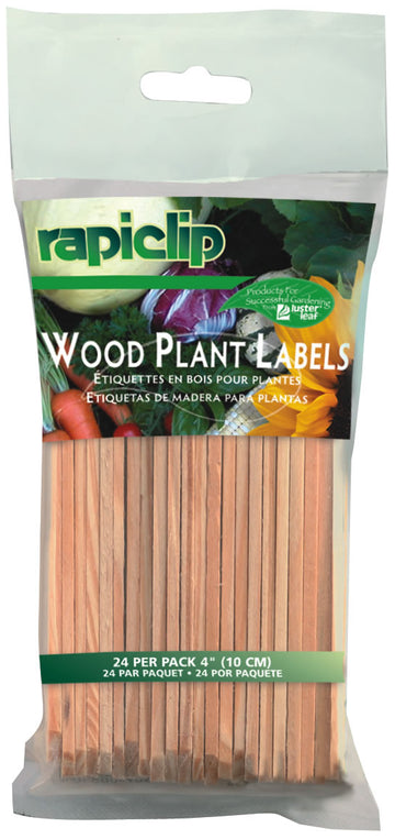"4"" Wood Plant Labels (24/Pk)"