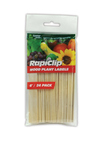 "6"" Wood Plant Labels (24/Pk)"