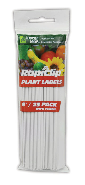 "6"" Plant Labels W/Pencil (25/Pack)"