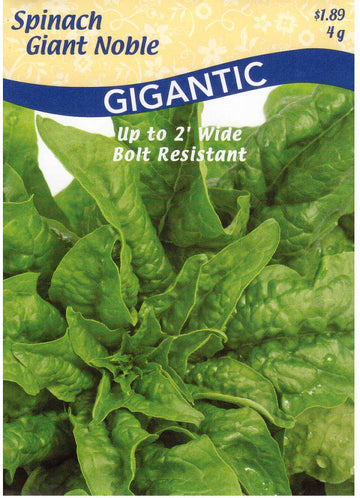 Giant Nobel Gigantic Spinach