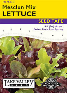 Mesclun Mix - 6.5 Ft Seed Tape