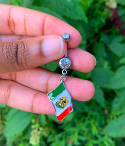 Rep Your Flag Dangle Belly Ring