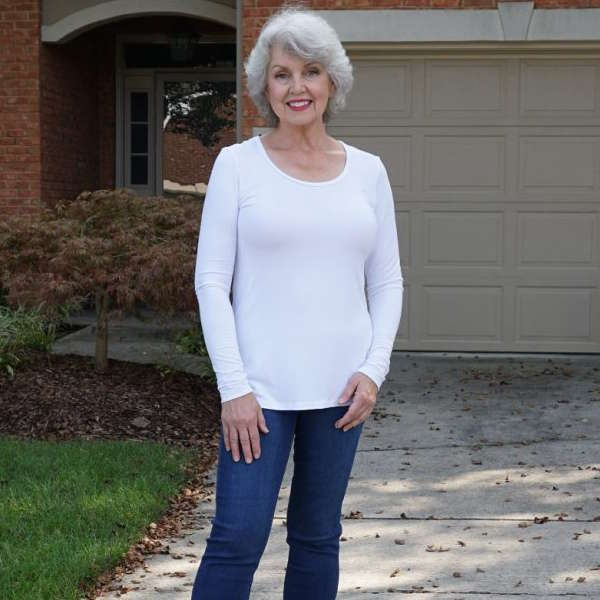 Covered Perfectly Cascading Vest and Simple Comfort Tunic - By Susan, Fifty, not Frumpy