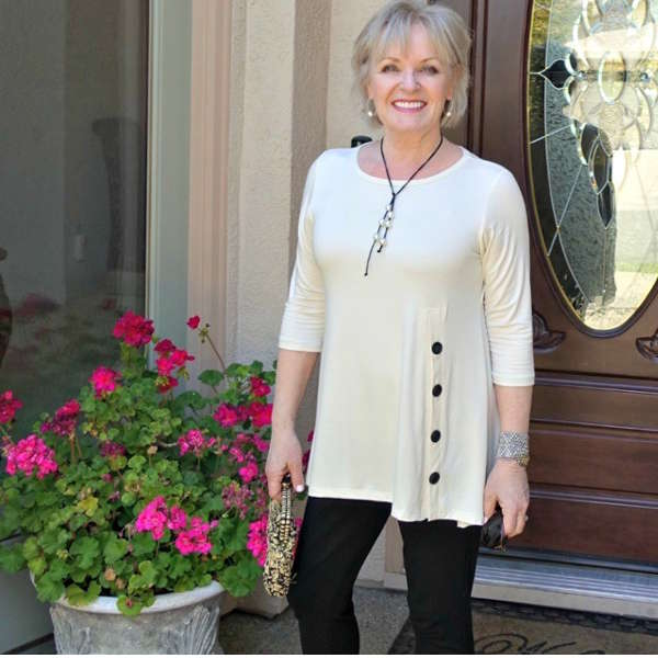 Buttoned Tunic for Women Over 40 - Jennifer, A Well Styled Life