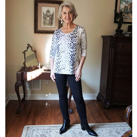 Snow leopard woman's top