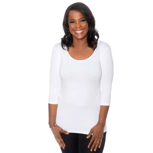 Simple Comfort Women's Tee Tops S / white CoveredPerfectly