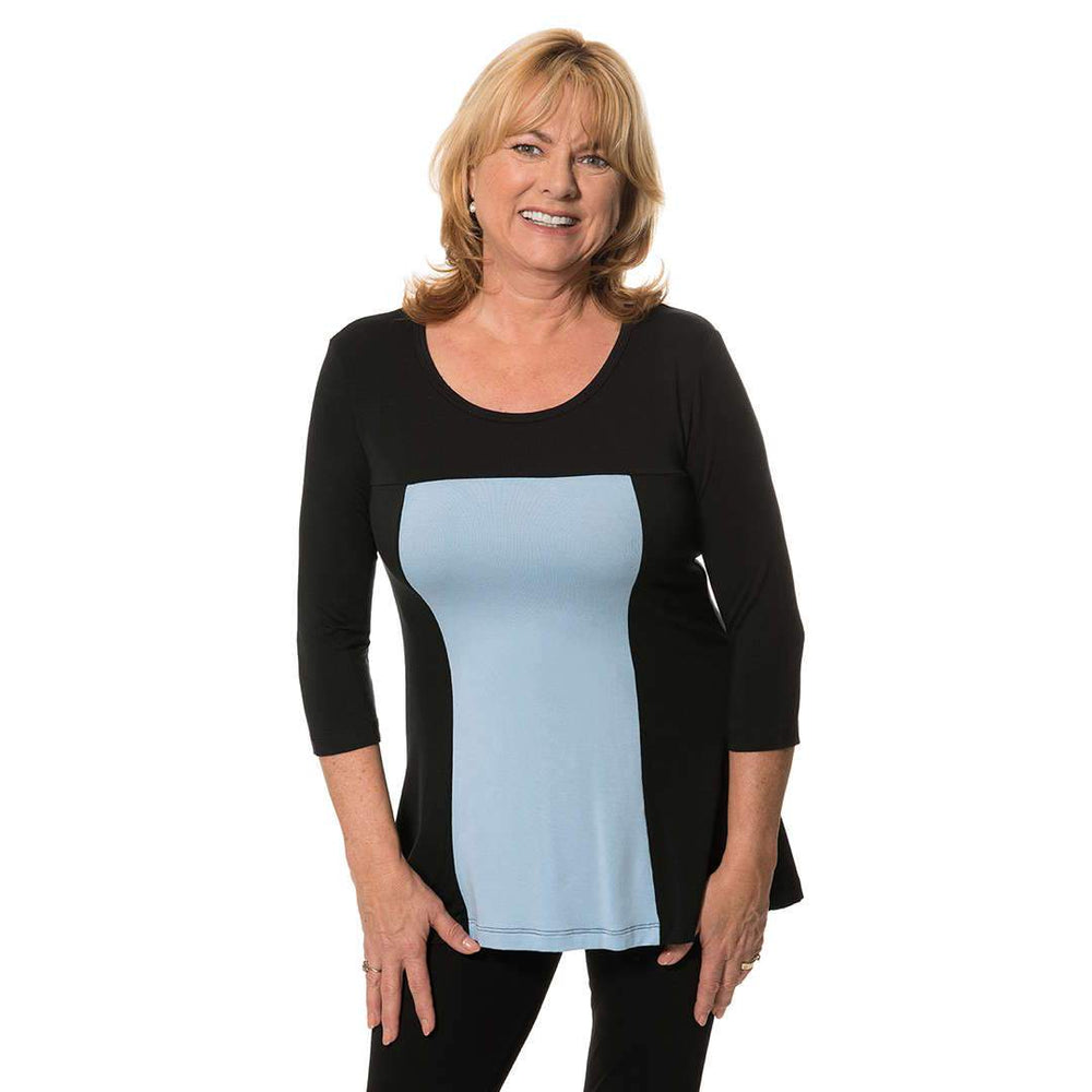 Color Block womans top Tops Black-Blue / S Covered Perfectly
