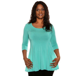 Fit and Flare Special Tops Aqua / S Covered Perfectly