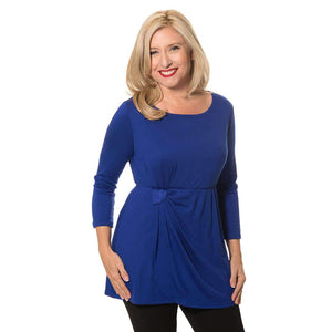 Empire waist with side gather Tops Royal-Blue / S Covered Perfectly