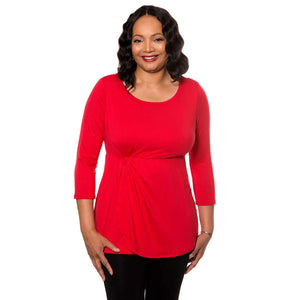 Empire waist with side gather Tops Red / S Covered Perfectly