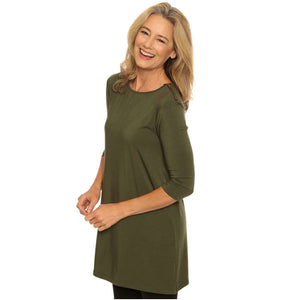 Longer length tunic stylish zip