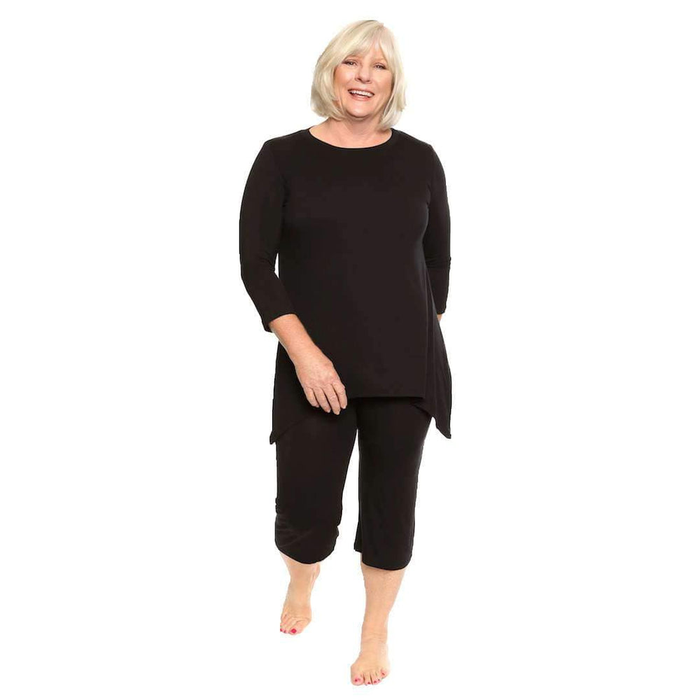 Black lounge wear Womens Leisure Suit