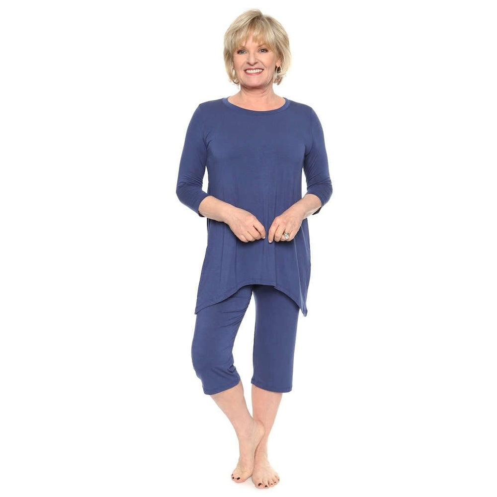 Ink blue loungewear women's leisure suit