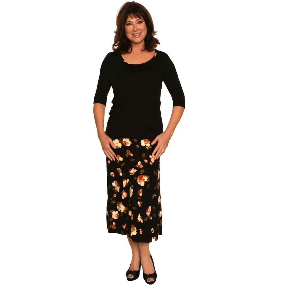 Attractive print A-Line Skirt Skirts Flower / S Covered Perfectly