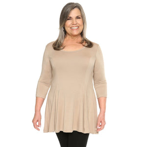 Fit and flare women's top in malt on sale