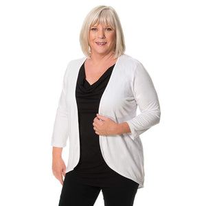 white and black twofer womens top