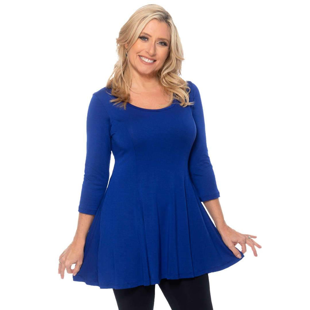 Fun and Flirty Fit and Flare Tops Royal-Blue / S Covered Perfectly