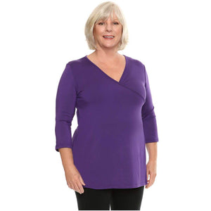 Cross over womens top A-line in violet