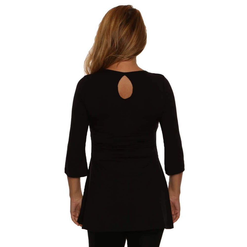 back view showing cut out at neckline