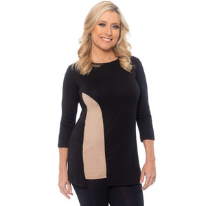 Flattering insert on this top Tops Black-Malt / S Covered Perfectly