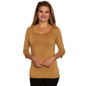 Simple comfort women's top scoop neck on sale