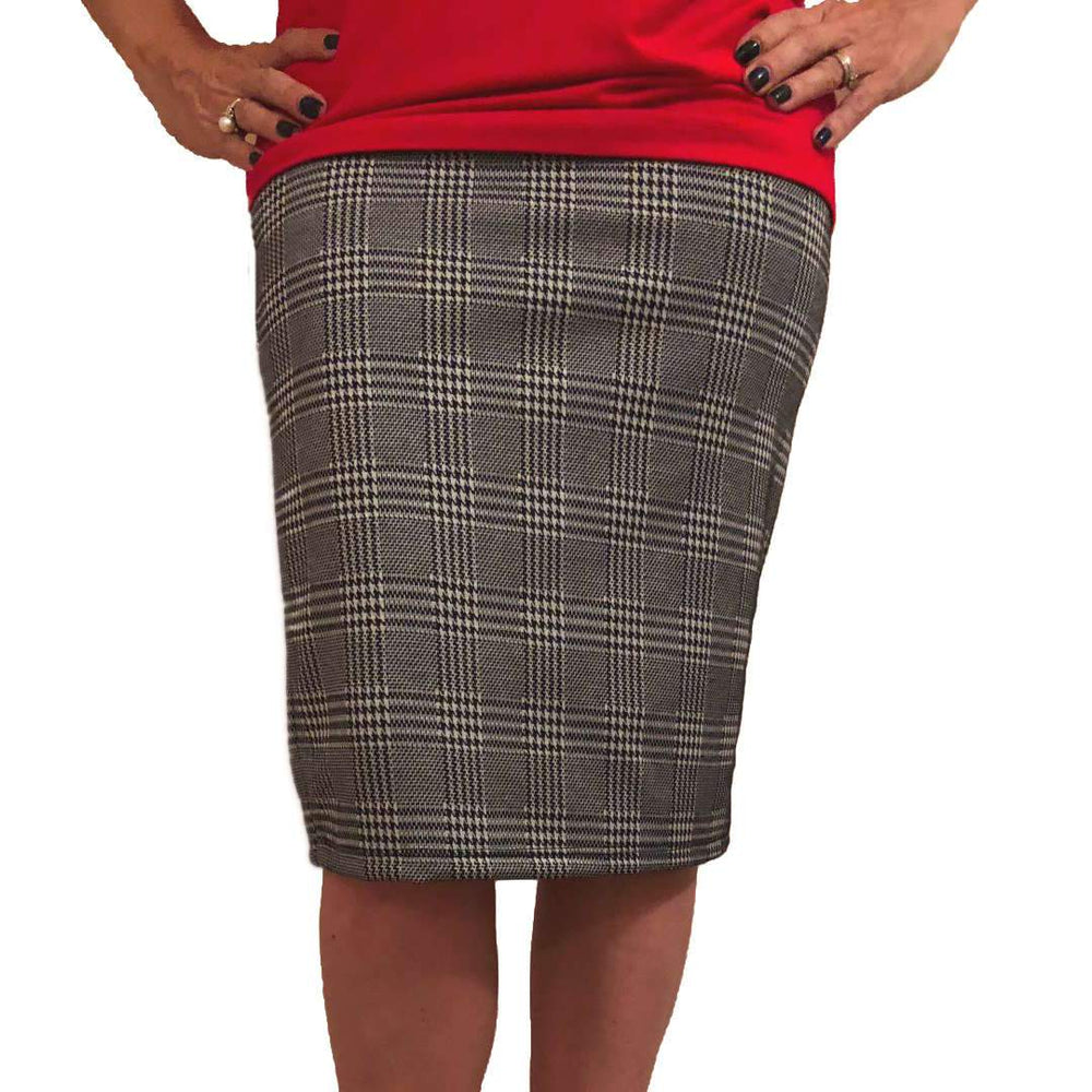 Glen Plaid Pencil Skirt Skirts Covered Perfectly
