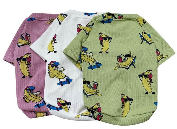 Cartoon Dog Clothes Pet Matching Clothing For Small Medium Dogs