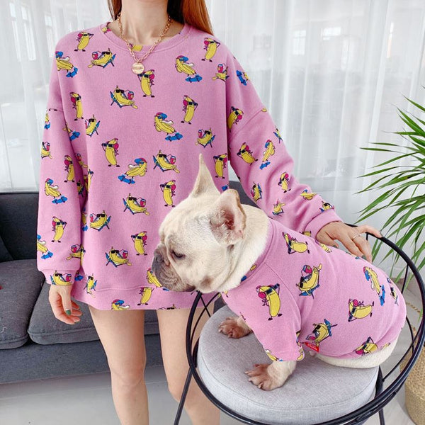 Cartoon Dog Clothes Pet Matching Clothing For Small Medium Dogs-pink