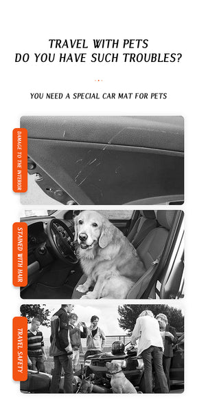 Dog Carriers Waterproof Rear Back Pet Dog Car Seat Cover Mats Protector with Safety Belt