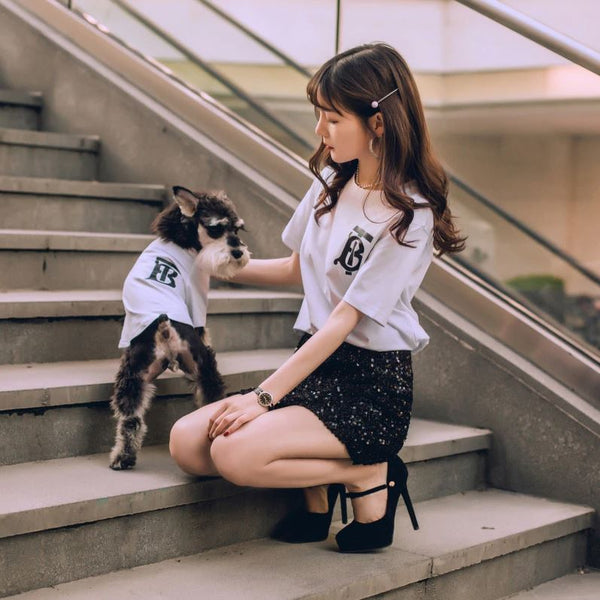 matching dog  and owner clothes fashion new summer thin T-shirt