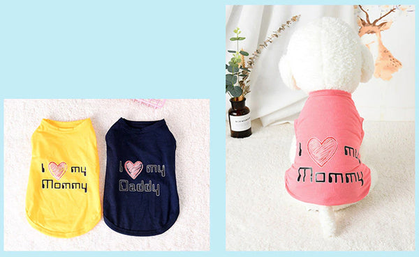 Kc Small Dog Clothes Love small dog t shirts