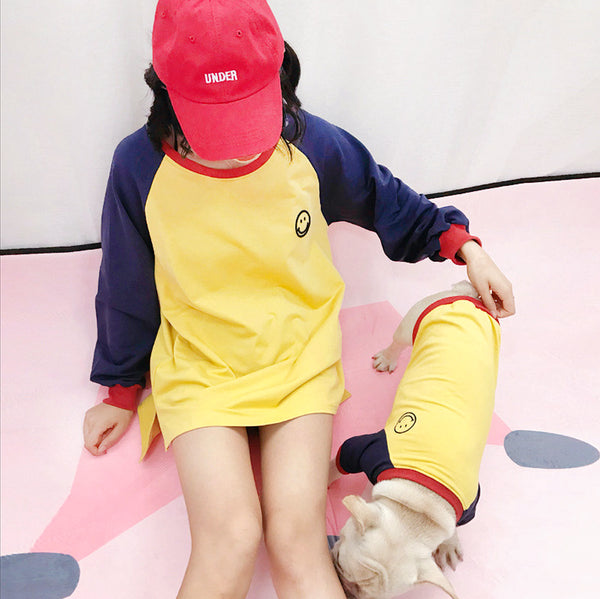 Matching pet owner clothes-yellow