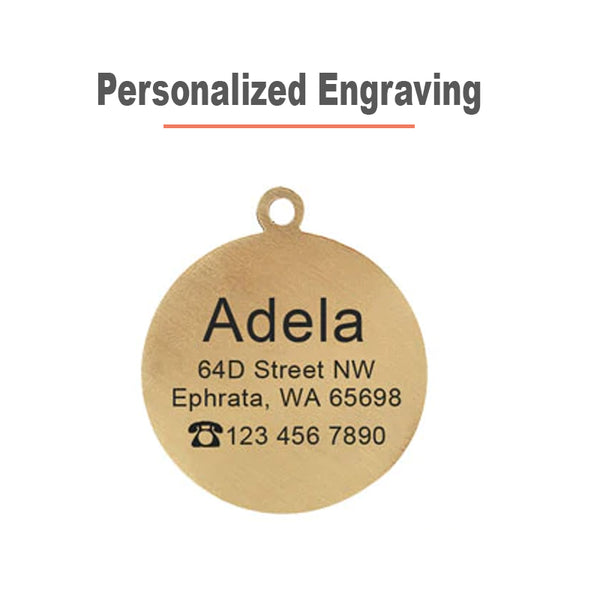 Personalized Dog ID Tag engraved