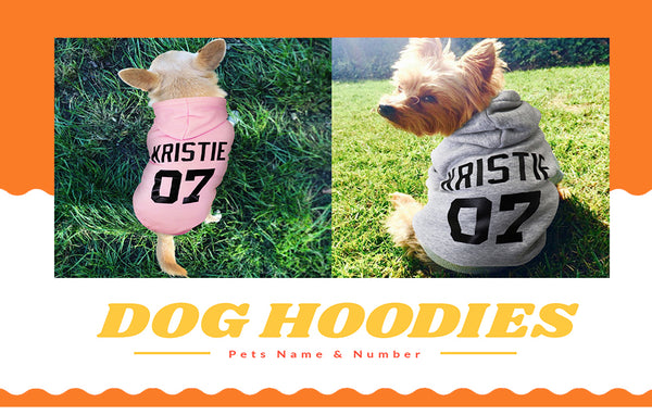 Personalized Pet Name Dog Hoodies For All Size Dog
