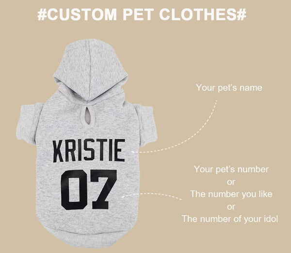 Personalized Pet Name Dog Hoodies For All Size Dogs-customized