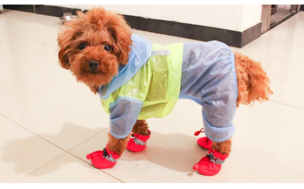 Rain Snow Waterproof Booties Rubber Anti-slip Shoes For Small Dog Puppies