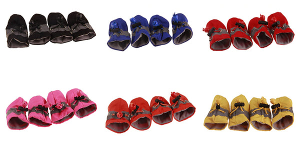 Rain Snow Waterproof Booties Socks Rubber Anti-slip Shoes For Small Dog Puppies-all colors