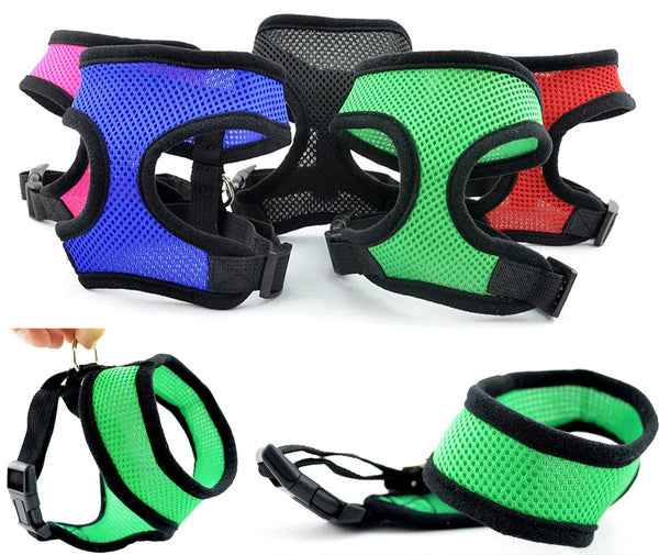 Soft Mesh Harness For DogsCatsWith Chest Strap.jpg