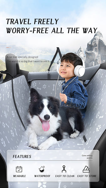 kc Dog Carriers Waterproof Rear Back Pet Dog Car Seat Cover Mats Hammock Protector with Safety Belt