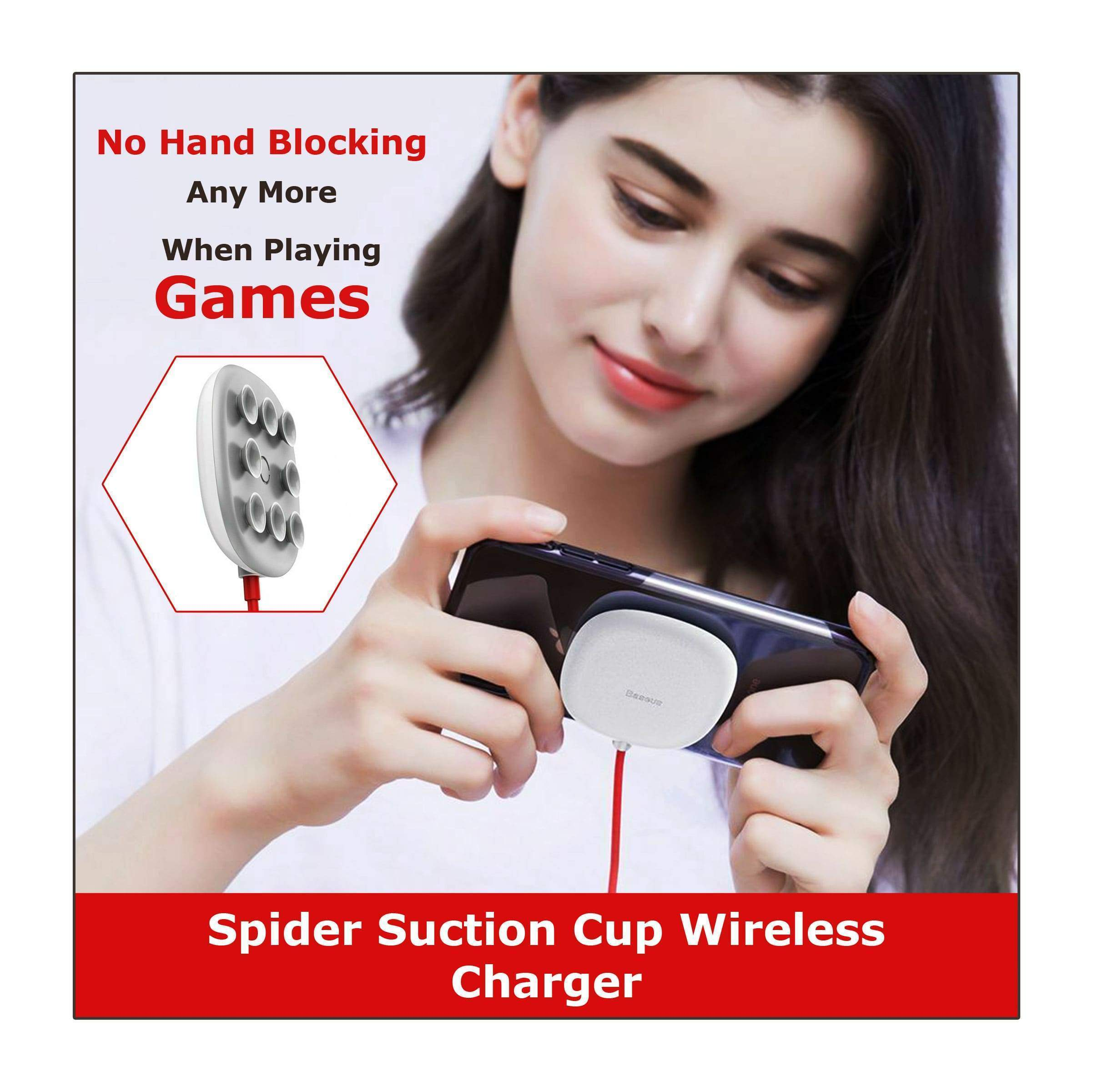 (Flash Sale)Spider Suction Cup Wireless Charger