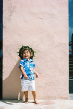 Load image into Gallery viewer, ROYAL BLUE KEIKI ALOHA SHIRT