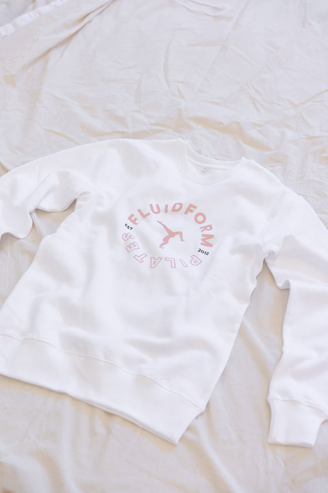 Walkover Badge Crew Sweat - White