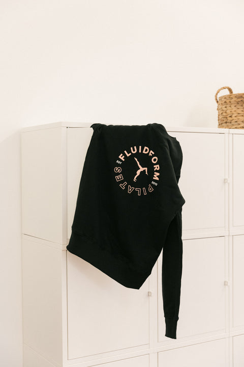 Walkover Badge Crew Sweat - Black