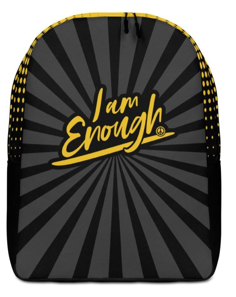 "I AM ENOUGH STRIPED BACKPACK - If you feel like you're carrying half of your belongings with you, then this I AM ENOUGH backpack is for you! Large inside pocket. Separate pocket for 15"" laptop. Hidden pocket with zipper on the back.  Your life's purpose and your dreams are limitless because you are Enough! Believe it. Live it. Wear it. Stand up and be counted! ❤"