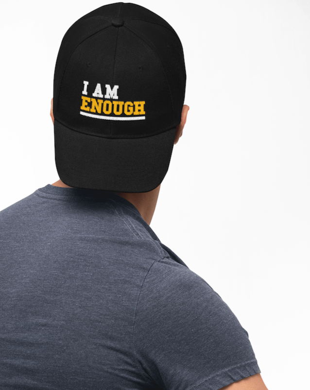 I AM ENOUGH Strong Inspirational Cap